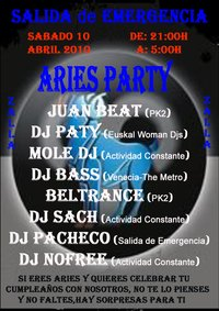 Aries Party en Salida de Emergencia, Zalla