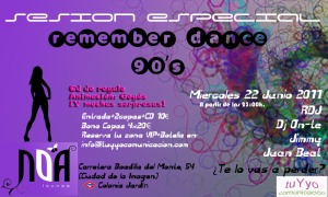 Fiesta remember 90s en Noa Madrid