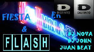 Fiesta COlumbus y Flash en Distrito Distinto
