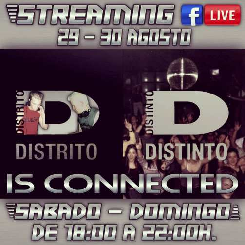 Distrito Distinto Is connected banner informativo